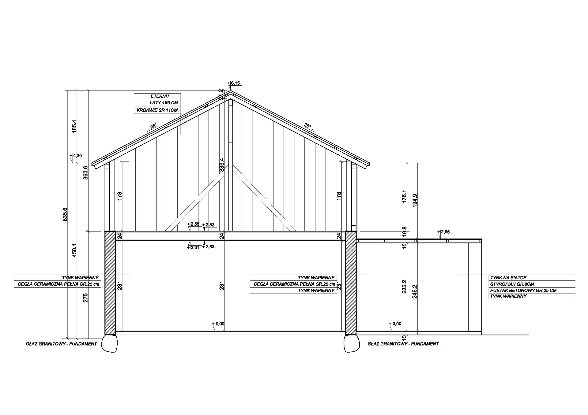 przekrój stodoła stodolove